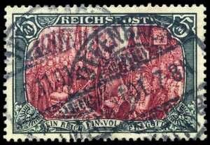 D-Reich-Nr-66-IV-gestempelt-5-Mark-Reichspost-nur-mit-weiss-nachgemalt-53890