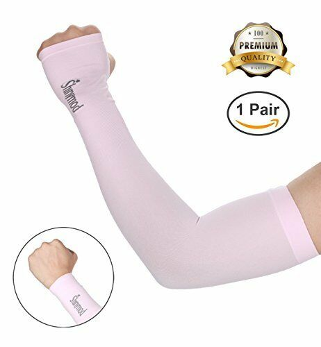 SHINYMOD UV Protection Cooling or Warmer Arm Sleeves for Men Women Kids Sunblock