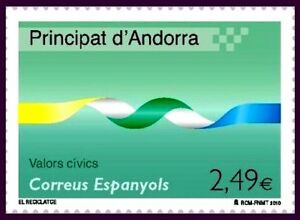 El Reciclaje 1v. Andorra Sellos Andorra EspaÑola 2010 378 Valores Civicos