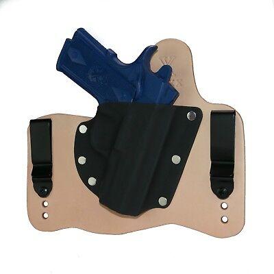 "FoxX Leather /& Kydex IWB Holster Springfield XD Service Model 4/"" 9//40 Black RH"