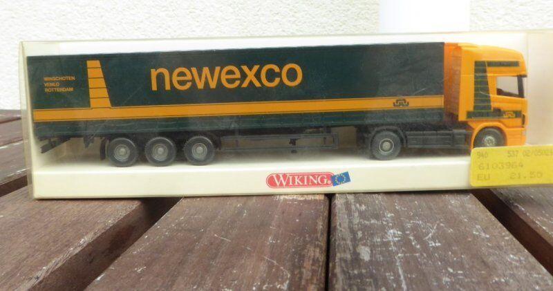 WIKING 53702 H0 1 87 Scania 144 Gardinenplanen-Sattelzug Newexco redterdam inOVP