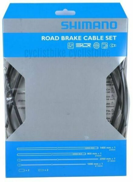Black VH88 SHIMANO SLR Road Brake Cable Set