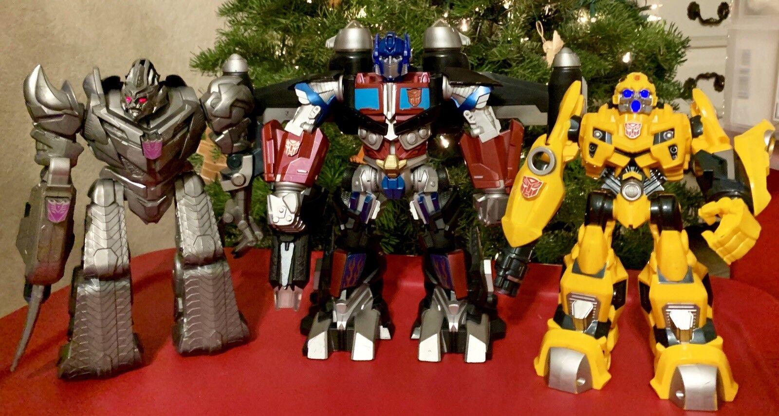 Transformers BUMBLEBEE MEGATRON OPTIMUS PRIME Lot Talking Action Figures 2008 09