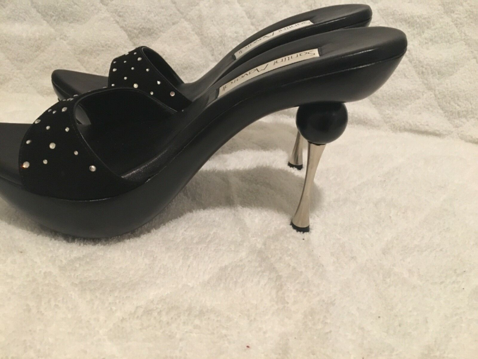 NW MAVARDI HIGH HEEL noir SUEDE SPlASH SPlASH SPlASH CRYSTA SANDLE 495 WITH BOX SZ9 chaussures 011caf
