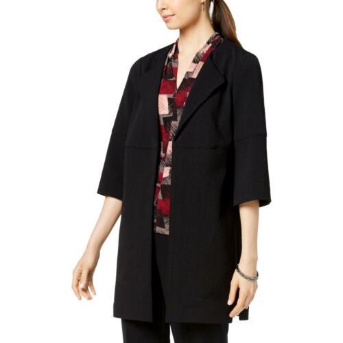 Nine West Womens Open Front 3//4 Sleeves Topper Jacket Blazer BHFO 0861