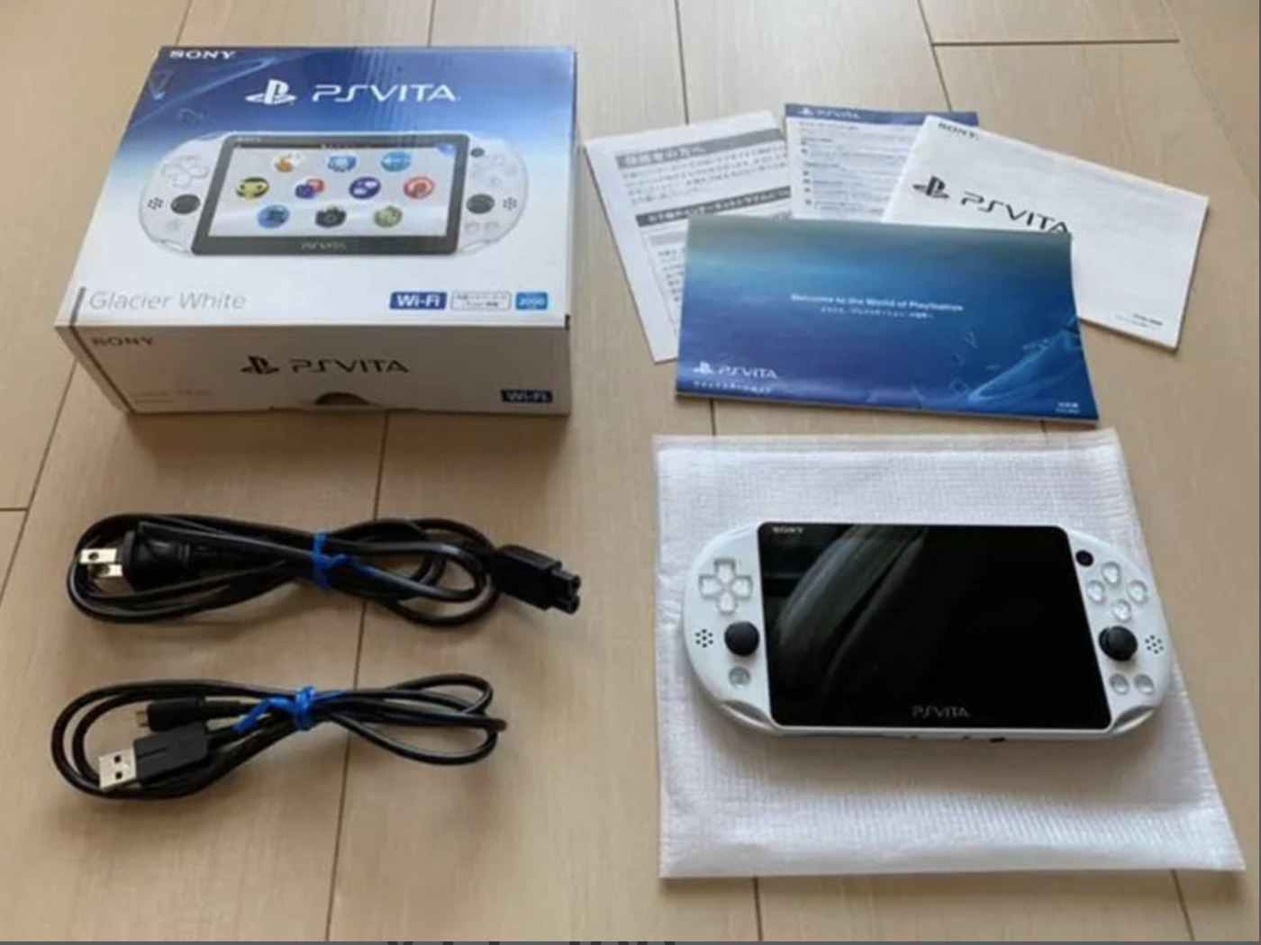 Sony PlayStation PS Vita Slim PCH-2000 WiFi Glacier White PSV Console