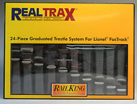 Mth Real Trax Fastrack Graduated Trestle Set For Lionel Track 24pcs 40-1113