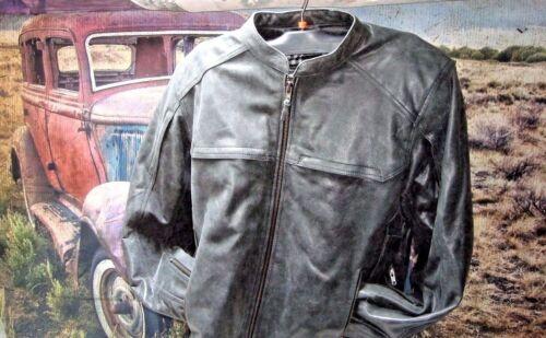 Motorcycle Gunner Jacket Highway 21 leather gunmetal  armor CC Pocket 2XL  HB