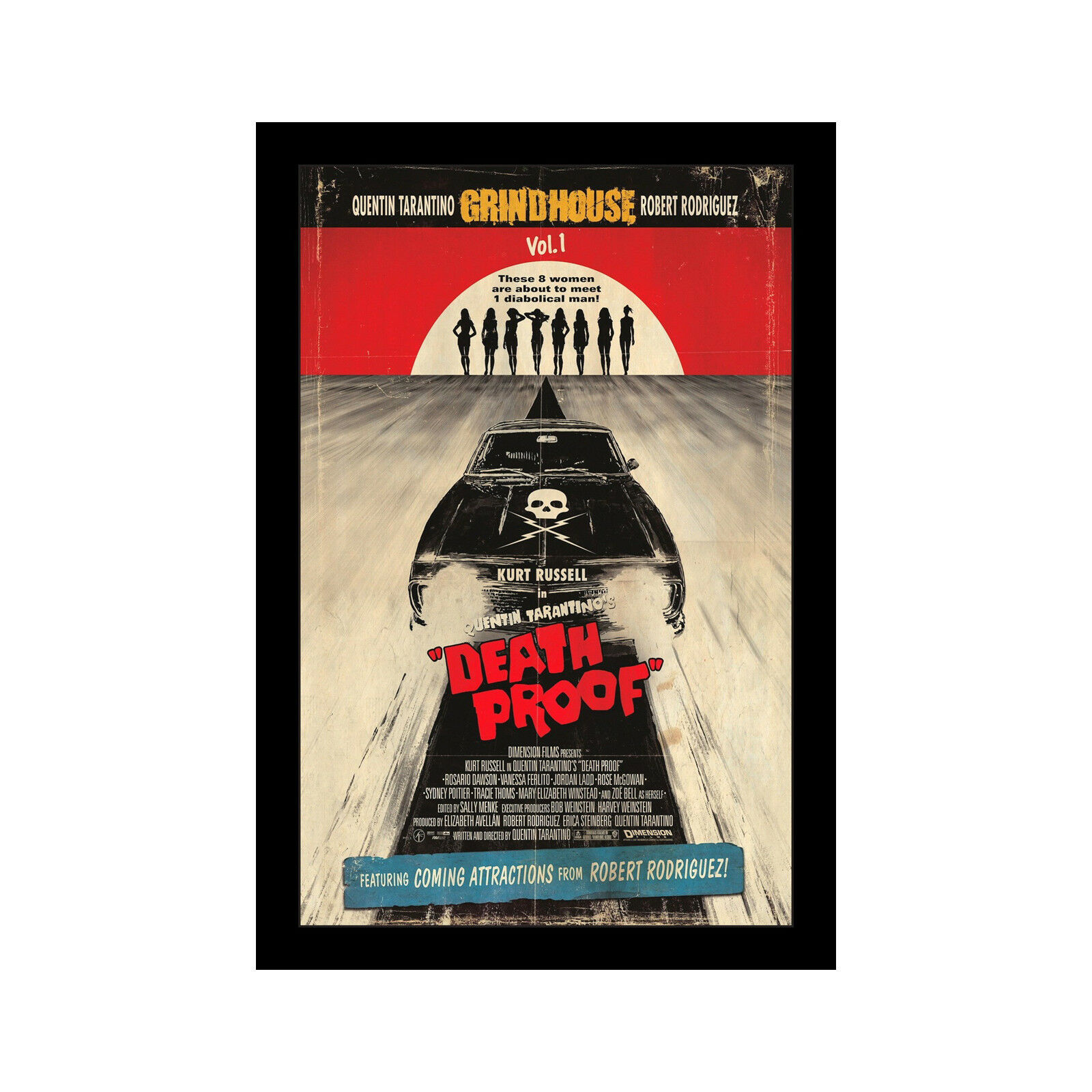 DEATH PROOF - 11x17 Framed Movie Poster by Wallspace
