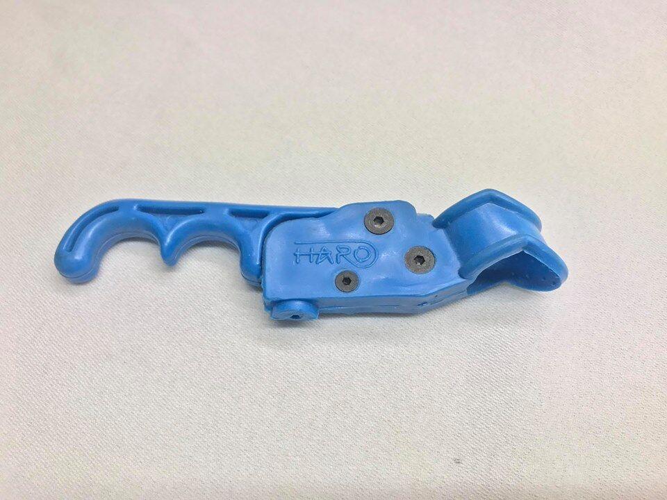 Used haro lever brake handle bar master sport group freestyler bmx bluee 1980