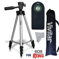 50 Vivitar Pro Tripod Quick Release + Remote Control For Canon Eos Rebel T7i