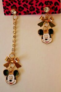 Betsey-Johnson-Crystal-Rhinestone-Enamel-Mickey-Mouse-Post-Earrings