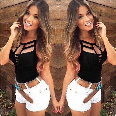 Sexy Women Summer Vest Top Sleeveless Blouse Casual Tank Tops T Shirt NJUS
