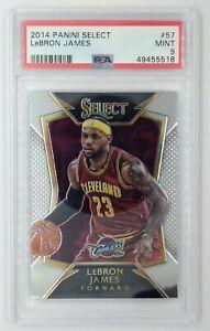 2014-15 Panini Select LeBron James #57, Cavaliers, Lakers, Graded PSA 9