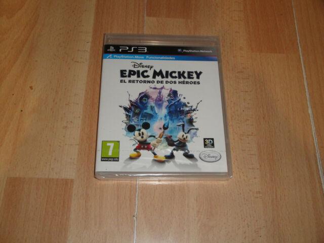 EPIC MICKEY EL RETORNO DE DOS HEROES DE DISNEY PARA LA SONY PS3 NUEVO PRECINTADO