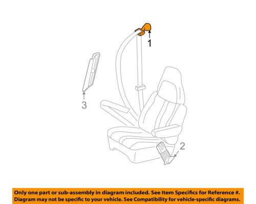 2003-2010 EXPRESS VAN RIGHT SIDE SEAT BELT RETRACTOR NEW GM #  19260280