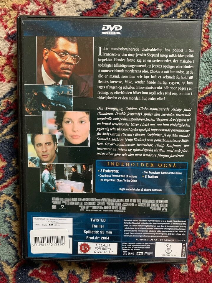 Blackout, instruktør Philip Kaufman, DVD