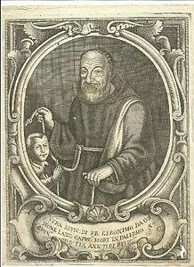 1700 Etching between Geronimo Girolamo from Corleone Palermo Sicily