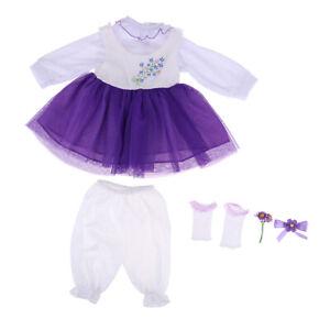 MagiDeal 20-22inch Baby Dolls Clothes Reborn Boy Rompers Jumpsuits Bib Socks