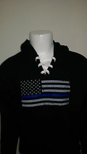 Police-USA-Flag-thin-blue-line-tactical-laced-hoodie-sweat-shirt-Law-enforcement