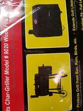 Char-Griller #9155 Wood Fire Pellet Grill Cover Black Fits Model 9020