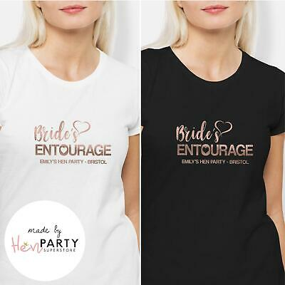 Hen Night Party Tops Personalised Rose GoldBride Tribe Hoodie Matching Bride To Be Design! Bridal T-shirts Theme Hen Night Tops