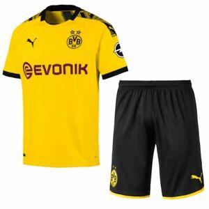 Puma Football Borussia Dortmund Bvb Mens Home Kit 2019 2020 Shirt Jersey Shorts Ebay