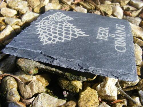 Game of Thrones Inspiré Slate Coasters Gin Gravé Cadeau idée Anniversaire
