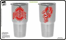Ohio State Buckeyes (Set of 2) Yeti Tumbler Vinyl Decal Big10 Car Truck Cornhole