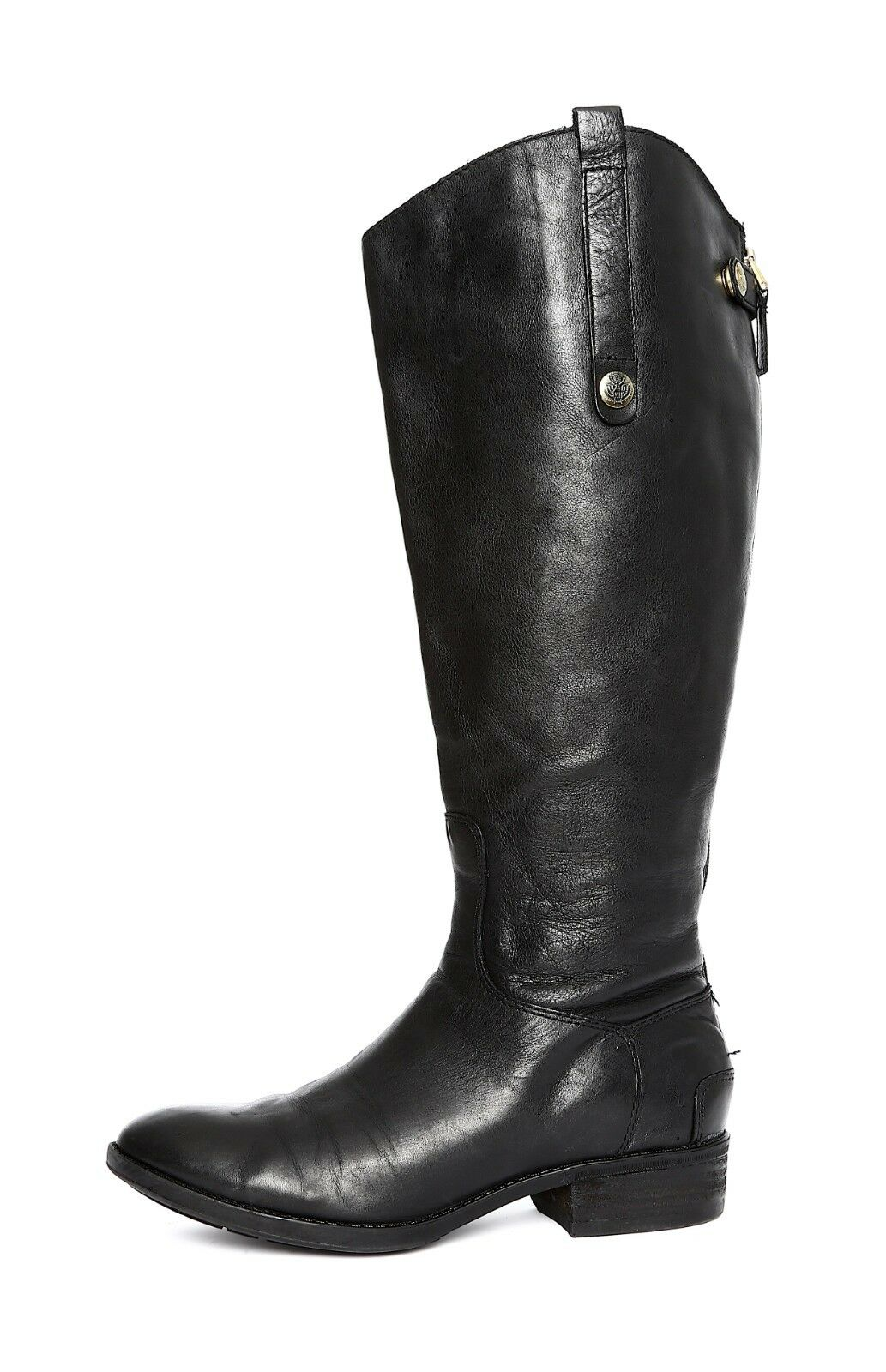 Sam Edelman Penny2 Womens Black Leather Boot Sz 7 3380