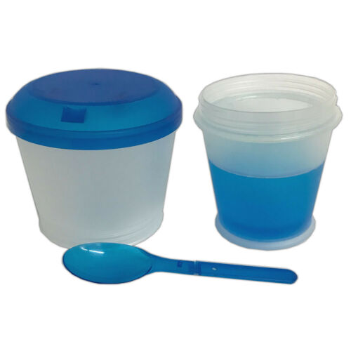 Müsli to Go Becher mit Löffel Müslibecher Cornflakes Behälter Joghurtbecher