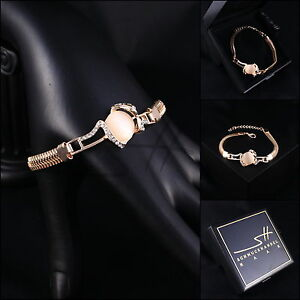 Armband-Armschmuck-Bracelet-Schlange-Rosegold-pl-Swarovski-Elements-Etui