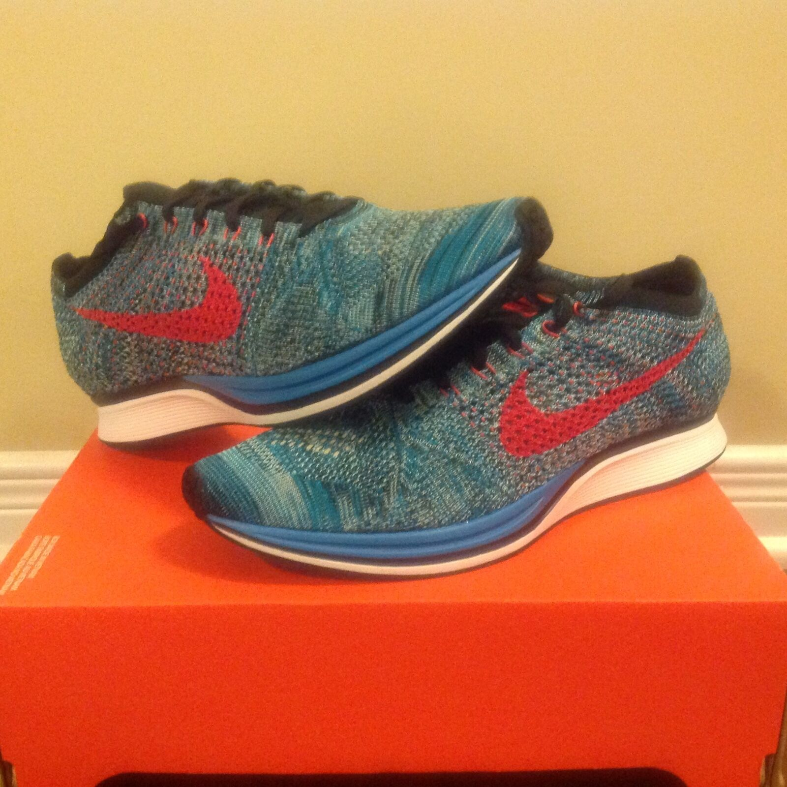Nike Flyknit Racer Neo Turquoise, Sz 13, DS, 100% Authentic, [526628-404]