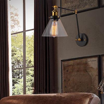 Swing Arm Wall Lights Kitchen Lamp Bedroom Gl Sconce Home Lighting Ebay