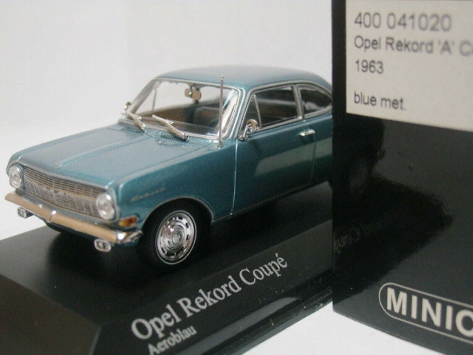 WOW EXTREMELY RARE Opel Rekord A Coupe 1.7L 1963 A.bluee 1 43 Minichamps-Diplomat