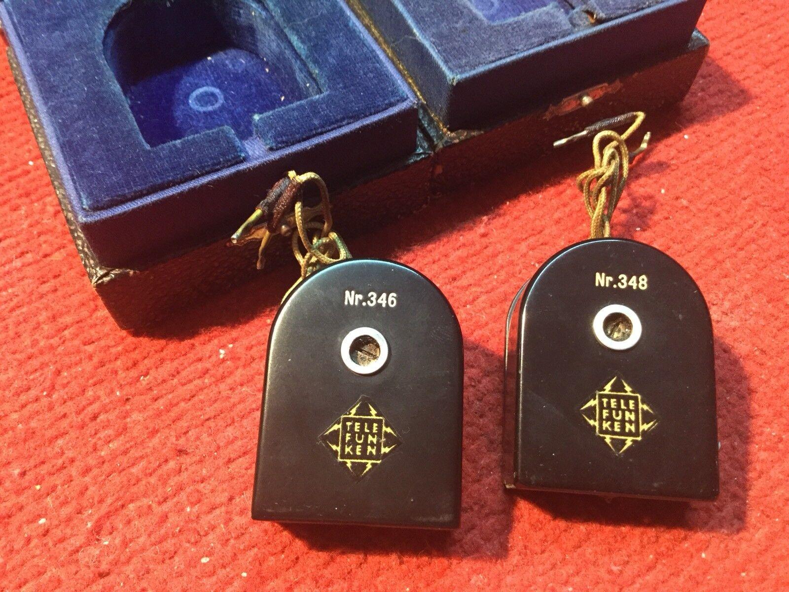Telefunken Pair Tonabnehmer Ela T104 1 Neumann Vintage Rare