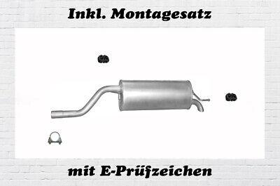 Auspuffanlage Opel Corsa D 1.4 Auspuff Flexrohr Endtopf Mitteltopf Montagesatz