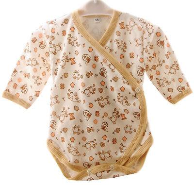 Baby Body Langarmbody Wickelbody 50 56 62 68 NEU Unisex Bodys 100/% Baumwolle A/&O