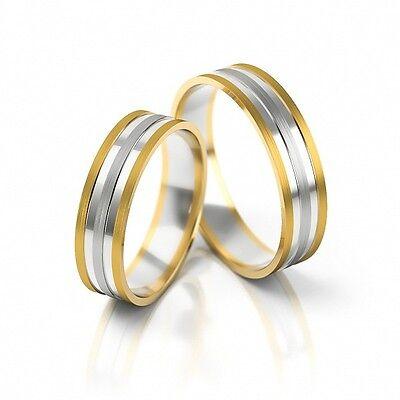 1 Paar Trauringe Hochzeitsringe Gold 585 - Bicolor - Breite 5mm -oder Auf Wunsch Ein Unverzichtbares SouveräNes Heilmittel FüR Zuhause