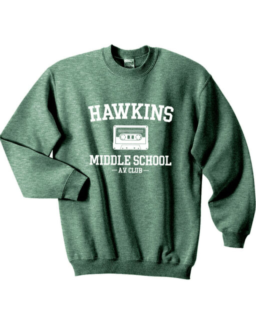 538 Hawkins Middle School AV Club Crew Sweatshirt stranger show things costume