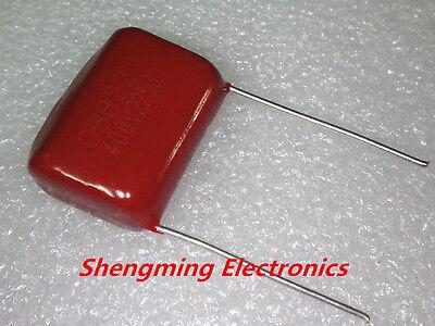 50pcs 225J 2.2uF CBB 400V 225 Metallized Film Capacitor P=20MM