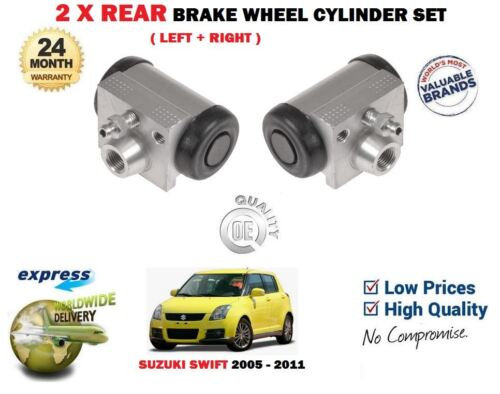 FOR SUZUKI SWIFT 2005-2011 NEW 2X REAR LEFT RIGHT BRAKE WHEEL CYLINDER SET