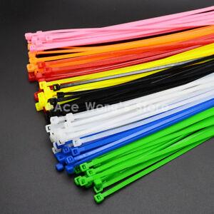 100Pcs/pack 4*200mm Standard Self-locking Plastic Nylon Cable Ties ...