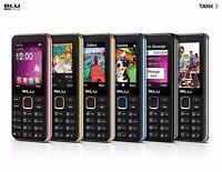 Unlocked Cell Phone Bar Dual SIM GSM Quad band, Camera, FM Radio MP3 Blu Tank 3
