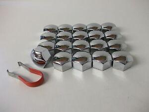 Wheel-Nut-Covers-Fit-Peugeot-107-206-207-308-407-3008-5008-17mm-Chrome-PE1085