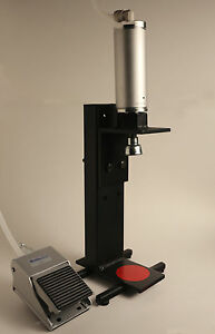 Foot pedal operated pneumatic bench top beer bottle capper ebay Bench bottle capper