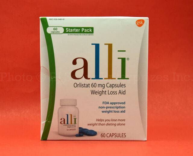 Alli Orlistat 60 Mg Capsules Weight Loss Aid 60ct