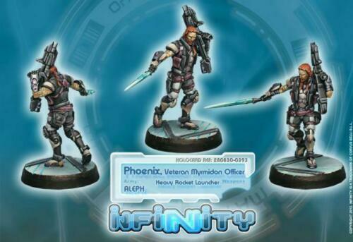 Infinity Aleph Phoenix Veteran Myrmidon Officer with Heavy Cor280830
