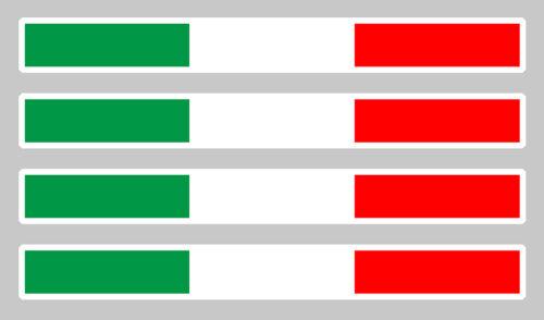 4 X Bänder Flagge Italien 11cmX1cm Aufkleber Auto IA012