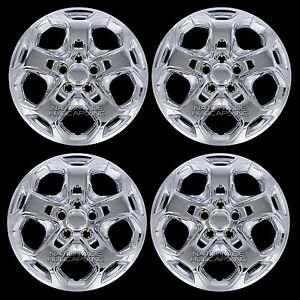 4 new 2010 11 2012 ford fusion 17 chrome wheel covers full rim hub caps 5 spoke. Black Bedroom Furniture Sets. Home Design Ideas